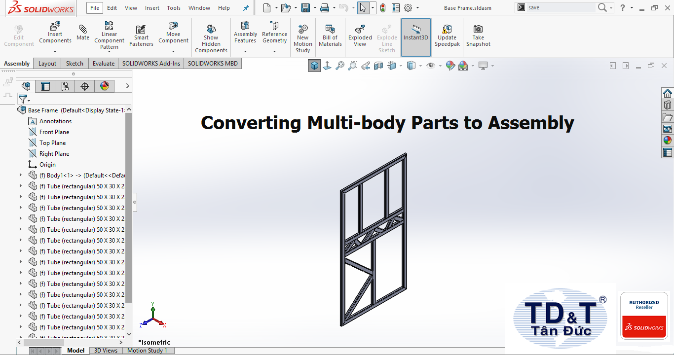 Tips and Tricks - Converting Multi-body Parts to Assembly