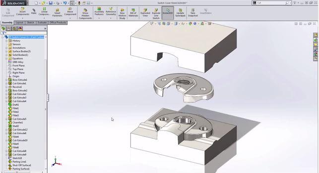 Những công cụ thiết kế khuôn trong SolidWorks
