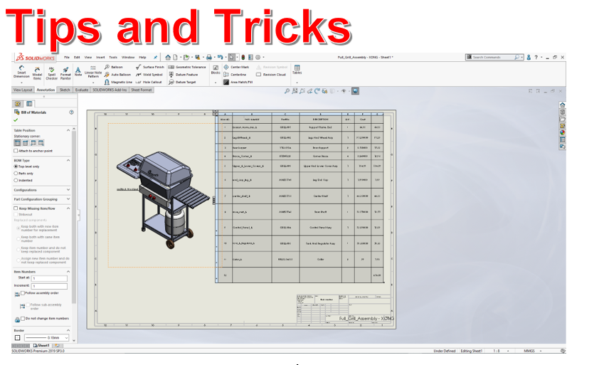 USE EQUATIONS TO ENHANCE YOUR SOLIDWORKS BILL OF MATERIALS